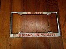 Indiana University License Plate Bracket 4 Screw Hole Metal