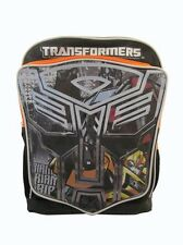 "Brand New Transformers Bumblebee Optimus Prime Boys 16"" Large Backpack Book Bag"