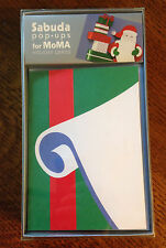 RARE Robert Sabuda MoMA Pop-Up Popup SANTA'S LIST Cards! 8 New Unopened