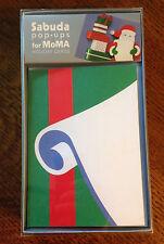 RARE Robert Sabuda MoMA Pop-Up Popup SANTA'S LIST Cards! 8 New Unopened