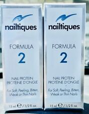 NAILTIQUES FORMULA 2 PROTEIN (2 X 15ml 1/2oz) TWO LARGE BOTTLES