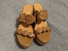 Jack Rogers Leigh Double Wedge Sandal Camel/Tan/Cork Size 8.5 M