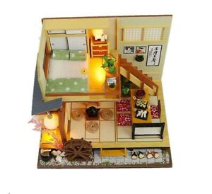 Adorable Miniature Diorama Dollhouse DIY Kit Japanese Forest Holiday House
