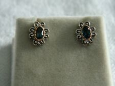 Clogau Silver & 9ct Rose Gold The Two Queens Topaz Stud Earrings RRP £119.00