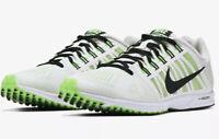 Nike Mens Zoom Speed Racer Track Running shoe Green White : Size 9.5 Off White