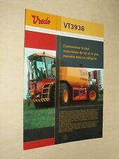 Prospectus Automoteur VREDO Tracteur Tractor Traktor Brochure Trattore  Prospekt