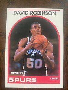 1989 Hoops David Robinson Rookie Card #310..San Antonio Spurs