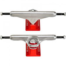 "Caliber Standard 9.0"" Raw/Red Skateboard Trucks (Set of 2)"
