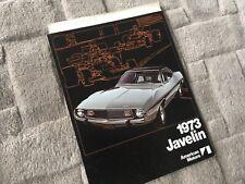 AMERICAN MOTORS   JAVELIN    BROCHURE 1973    UK MARKET