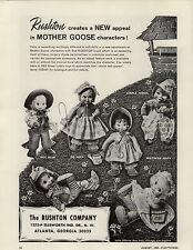 1964 PAPER AD Rushton Toy Plush Stuffed Animal Mother Goose Bo Beep Simple Simon