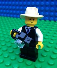 Lego City Town PHOTOGRAPHER 10232 Journalist Camera Hat Photo Minifig Minifigure