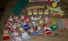 Vintage Epoch Sylvanian Family / Calico Critter HUGE lot of animals & furniture