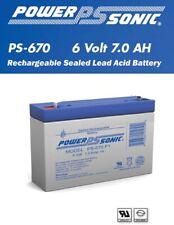 PowerSonic PS-670 6 Volt, 7 Ah SLA Rechargeable Battery