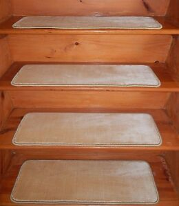 """13 Step 9"""" X 30"""" + Landing 31"""" x 30""""  Stair Treads Staircase WOVEN WOOL CARPET."""