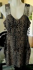 Body Central Embellished Nude Lined Leopard Coctail Dress . Size Medium