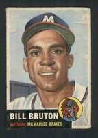 1953 Topps #214 Bill Bruton GVG RC Rookie Braves UER 88019