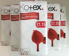 SAVER PACK 6 X Kotex 14 Sanitary Towels / Pads / Serviettes Maxi Super Quilted