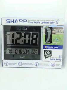 Sharp Atomic Clock Accuracy Indoor/Outdoor Temperature Display Wireless SPC1107A
