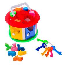 Steckhäuschen mit Tieren Steckspiel Sortierspiel Motorik Steckwürfel