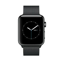 Apple Watch Series 2 42mm Stainless Steel Case Space Black Milanese Loop