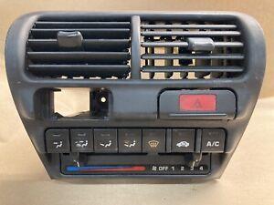 1994-2001 Acura Integra Dash Radio Bezel W Climate Control Panel TESTED