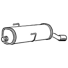 Peugeot 206 CC  1.6 05-08 Klarius Exhaust Rear Back Box with Chrome Tip- PG896E