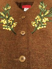 Vintage KENZO Paris Wool Embroidered Jacket SZ 42 Exquisite~ Made In France