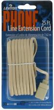 Leviton C2406-25W 25-Foot Flat wire Modular Phone Line Extension Cord RJ11 WHITE