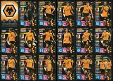 MATCH ATTAX 2019/20 19/20 WOLVES FULL 18 CARD TEAM SET + BADGE & DUO
