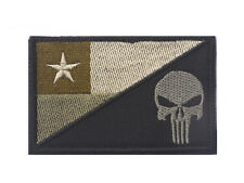 PUNISHER SKULL CHILE FLAG TACTICAL U.S. ARMY MILITARY MORALE FROSET HOOK PATCH