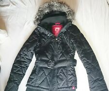 edc Esprit Winterjacke M 36 39 Basic extra warm schwarz WOW Fell Kapuze NEUw HOT