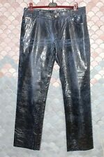 Roberto Cavalli Vintage Mens' Leather Pants,  Blue, Size L ( 35/36 US ), New