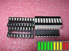 LM3914 + LED-Bargraph rot/gelb/grün + IC-Fassungen passend