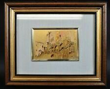 Creatinoni Artistiche Oro gold Bild Vergokldet Italy C. Vaue Provinz 11DB2