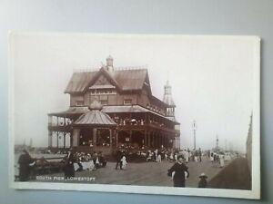 South Pier Lowestoft Postcard Early RP