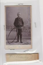 "Netherlands ""NAMED"" Amsterdam Boy With Hoop Small CDV/Cabinet Photograph c1900"