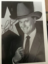 7x5 Signed Photo of DALLAS star Larry Hagman - J.R. Ewing