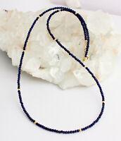 Lapislazuli Kette Edelsteinlkette lapis-Lazuli Marine blau facettierte Collier