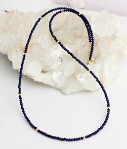 Lapislazuli Chain Jewel Chain Lapis-Lazuli Marine Blue Faceted Necklace