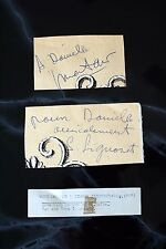 Both Yves Montand & Simone Signoret Autograph Blue Ink on Serendipity Menu 1960