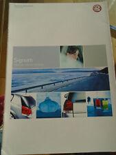 Vauxhall Signum range highlights brochure 2003