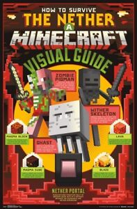 MINECRAFT - THE NETHER POSTER - 22x34 - VIDEO GAME 16399