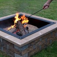 "Sunnydaze Fire Poker 26"" Steel with Black Finish Fireplace Fire Pit Accessory"