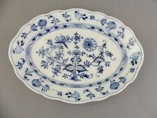 ⚔ Meissen Bratenschale 00308 - 35 x 25 cm - Zwiebelmuster 2.Wahl vor 1888 Schale