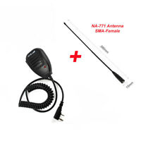 Speaker Microphone Mic for Baofeng UV5R 888S Ham Two-Way Radio with Antenna