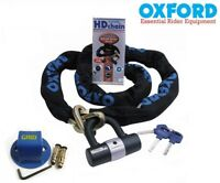 Oxford HD 1.0m Motorcycle Sold Secure Motorbike Chain and Grid Ground Anchor