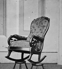 President Lincoln Assassination Rocking Chair April 1865 8x10 US Civil War Photo