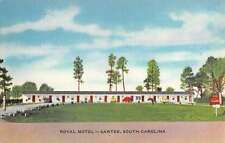 Santee South Carolina Royal Motel Street View Linen Antique Postcard K15185