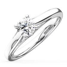 0.25CT Round Diamonds Solitaire Engagement Ring in Platinum