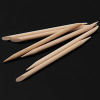 100Pcs Orange Wood Sticks for Nail Art Cuticle Pusher Remover Manicure Tool
